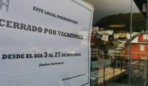 Cerramos por vacaciones (del 3 al 27 noviembre)
